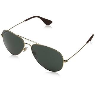 6784d54e9d2c Ray-Ban RB3558 001 71 Unisex Gold Frame Green Classic Lens Sunglasses
