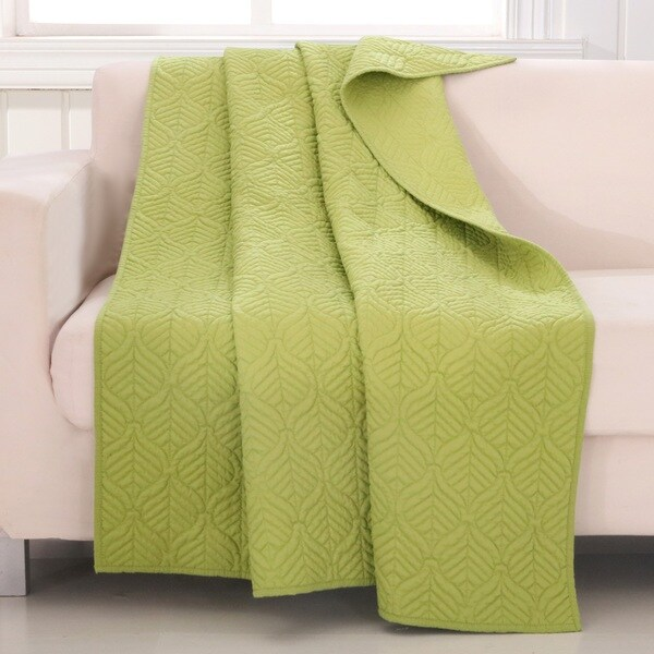 Piper Green Quilted Throw