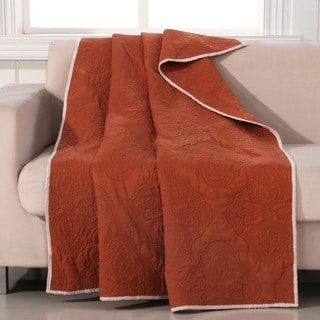 Cameo Rust Quilted Throw