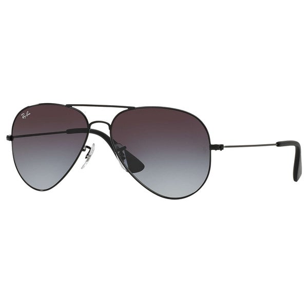 33f65730a82 Ray-Ban RB3558 002 8G Unisex Black Frame Grey Gradient Lens Sunglasses