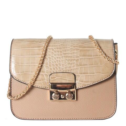 Diophy Animal Print Pattern Flap with Snap Closure Crossbody Handbag