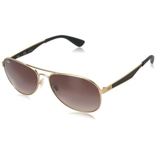 Ray-Ban RB3549 112/13 Men's Gold/Black Frame Brown Gradient Lens Sunglasses