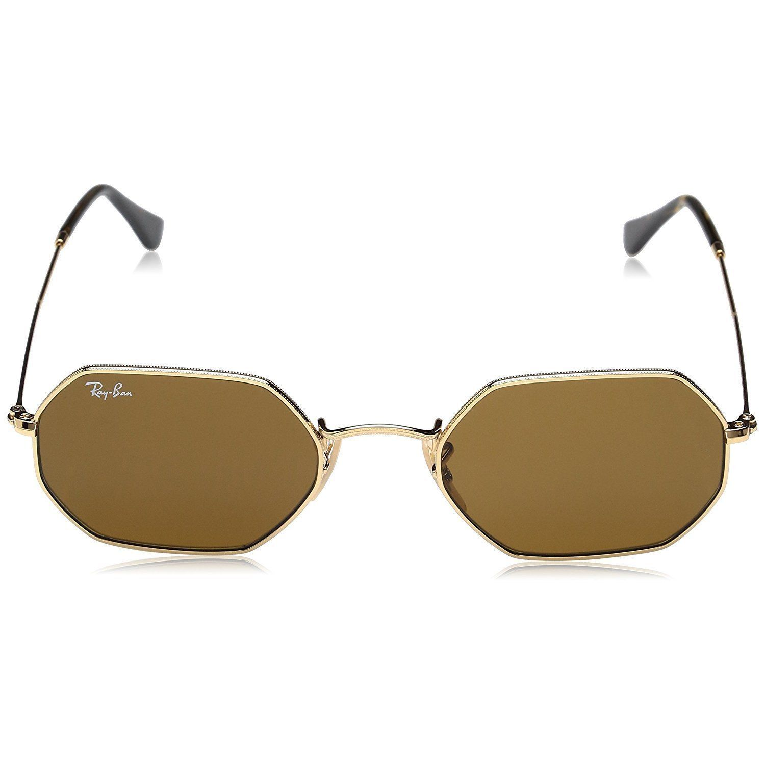 e9ce090153 Shop Ray-Ban Octagonal RB3556N 001 33 Unisex Gold Frame Brown Classic Lens  Sunglasses - Free Shipping Today - Overstock - 15079074