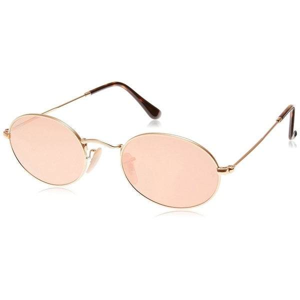 4b50b604c6a Ray-Ban Oval RB3547N 001 Z2 Unisex Gold Frame Copper Flash Lens Sunglasses