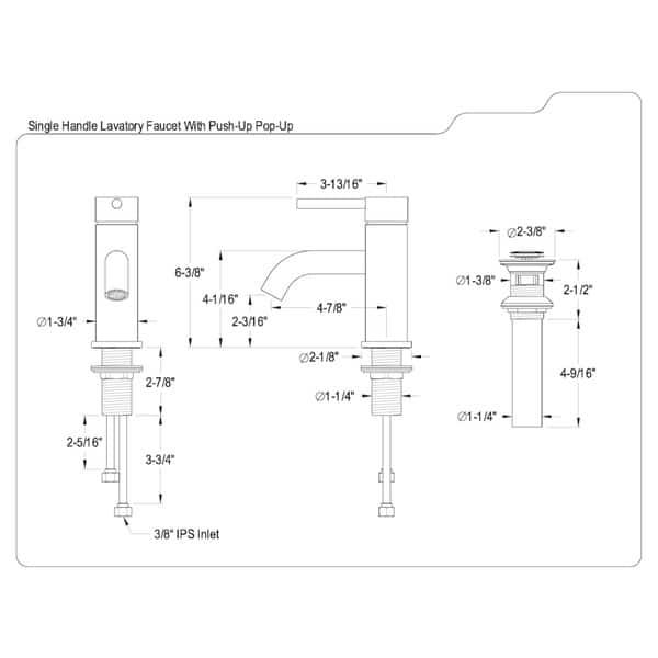 Black Single Handle Bathroom Faucet With Pop Up Drain Overstock 15079083
