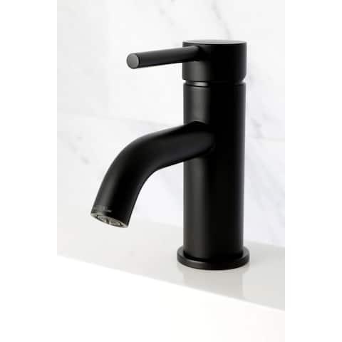 Black Single Handle Bathroom Faucet with Pop-up Drain