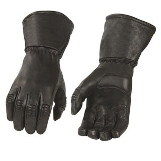 Men's Deerskin Leather Thermal Lined Gauntlet Gloves