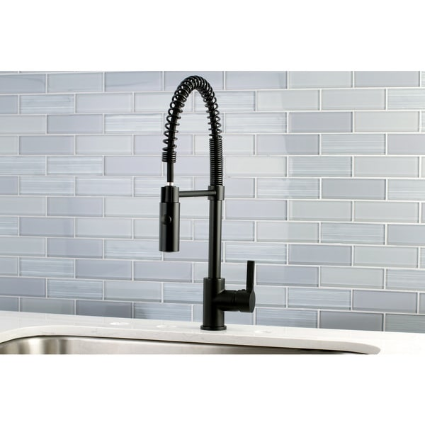 Shop Black Modern Spiral Pulldown Kitchen Faucet Free Shipping