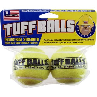 Petsport USA Tuff Balls Industrial Strength Tennis Balls 2 Count