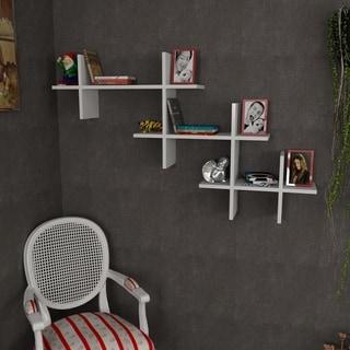Wolcott 55'' x 33'' x 9'' Modern Minimalist Wall Shelf