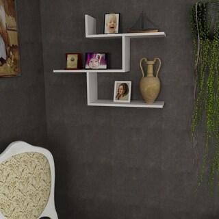 Wagner 35'' x 28'' x 9'' Modern Minimalist Wall Shelf