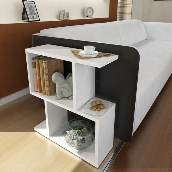 shop sawyer 20 inch x 22 inch x 7 inch modern minimalist side table on sale free shipping. Black Bedroom Furniture Sets. Home Design Ideas