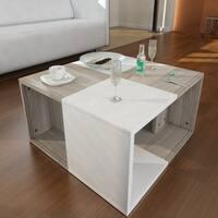Modern Minimalist Chestnut 23-inch x 13-inch x 23-inch Coffee Table