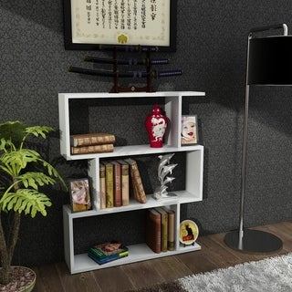Bensley Contemporary Wood 3-tier Bookcase