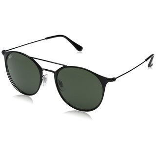 Ray-Ban RB3546 186 Unisex Black Frame Green Classic Lens Sunglasses