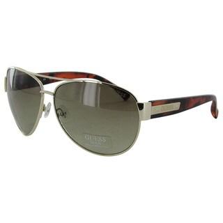 Guess GU6830/130 Mens Gold Frame Brown Lens Sunglasses