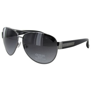 Guess GU6830/130 Mens Gunmetal Frame Smoke Lens Sunglasses