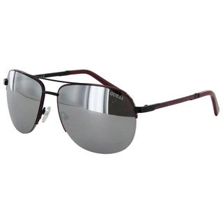 Guess GF0164 Mens Red Frame Grey Lens Sunglasses