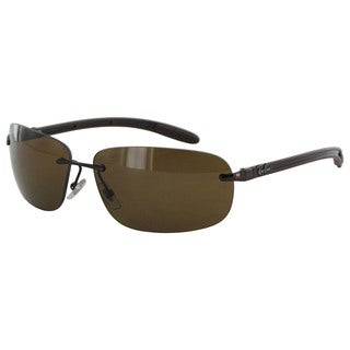 Ray Ban Tech Carbon Fibre 8303 Mens Brown Frame Brown Polarized Lens Sunglasses