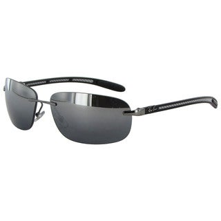 Ray Ban Tech Carbon Fibre 8303 Mens Silver Frame Black Polarized Lens Sunglasses