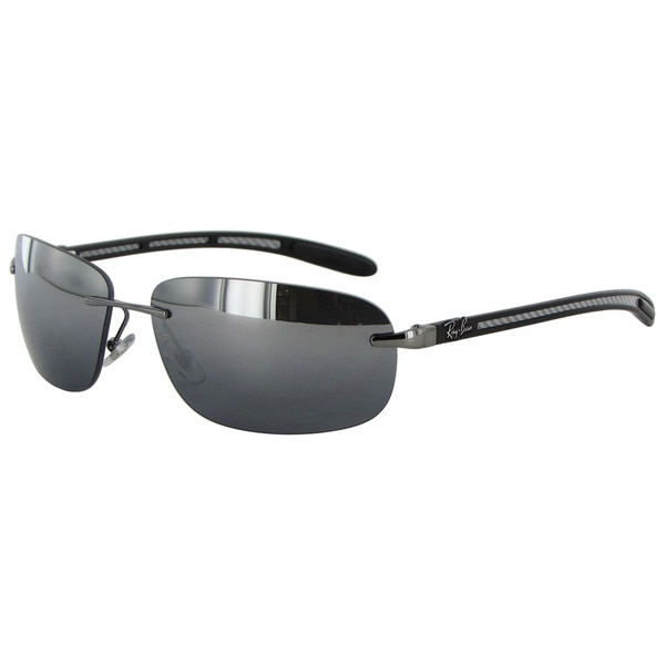 1005fab1e7 Ray Ban Tech Carbon Fibre 8303 Mens Silver Frame Black Polarized Lens  Sunglasses