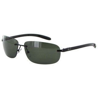 Ray Ban Tech Carbon Fibre 8303 Mens Black Frame Green Polarized Lens Sunglasses