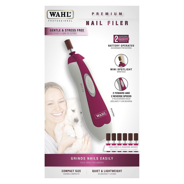Wahl Clipper Premium Pet Nail Filer (Purple)