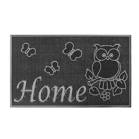 Storm Stopper Silver Painted Rubber Welcome Home Door Mat (18 x 30 in.)