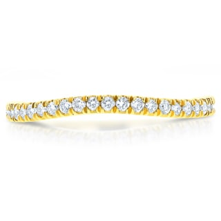Annello by Kobelli 14k Yellow Gold 1/5ct TDW Diamond Curved Wedding Band (GH, I1-I2)