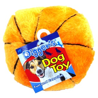 "Boss Pet 5"" Plush Basketball Dog Toy"