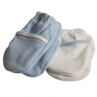 Safety 1st Blue Cotton No-scratch Mittens (Set of 2)