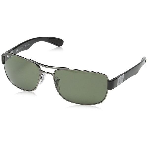 2f74963cbe Shop Ray-Ban RB3522 004 9A Men s Gunmetal Frame Polarized Green Lens ...