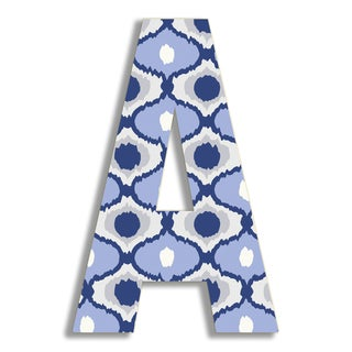 "18"" Oversized Blue Ikat Hanging Initial (More options available)"