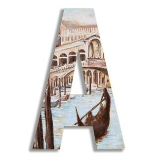"18"" Oversized Venice Scene Hanging Initial"
