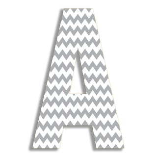 "18"" Oversized Grey Chevron Hanging Initial"