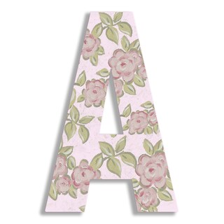 "18"" Oversized Rose Hanging Initial (More options available)"