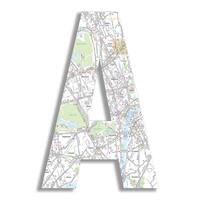 """18"""" Oversized London Map Hanging Initial"""