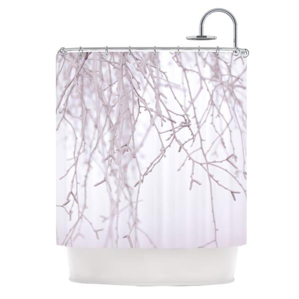 KESS InHouse Monika Strigel Frozen White Shower Curtain (69x70)