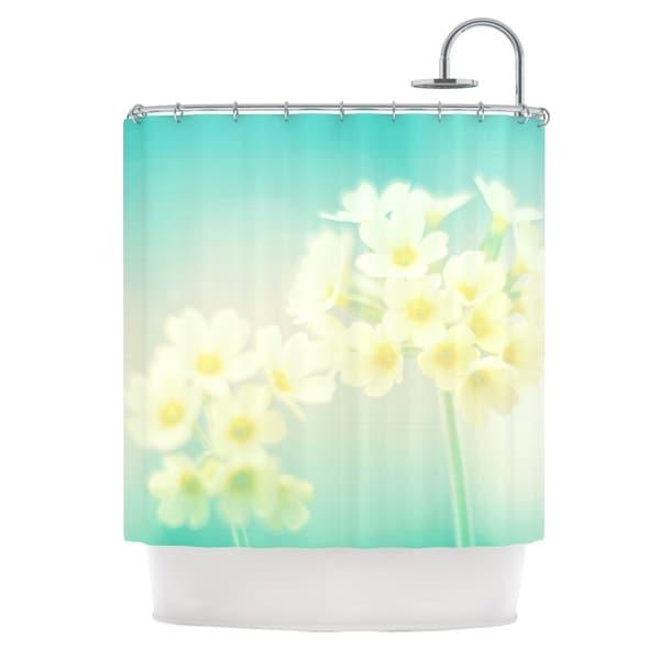 KESS InHouse Monika Strigel Happy Spring Yellow Teal Shower Curtain (69x70)