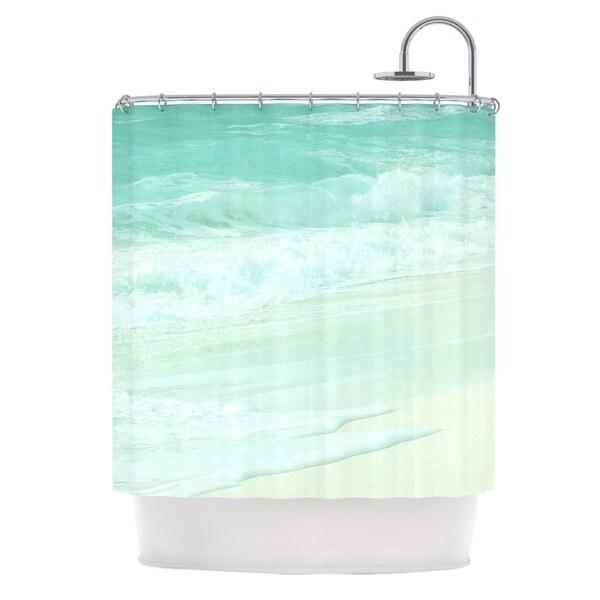 KESS InHouse Monika Strigel Paradise Beach Mint Teal Green Shower Curtain (69x70)