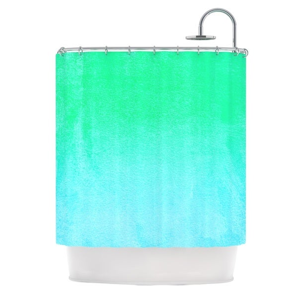 KESS InHouse Monika Strigel Blue Hawaiian Aqua Green Shower Curtain (69x70)