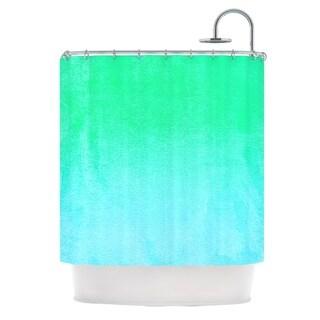 KESS InHouse Monika Strigel Blue Hawaiian Aqua Green Shower Curtain (69x70)