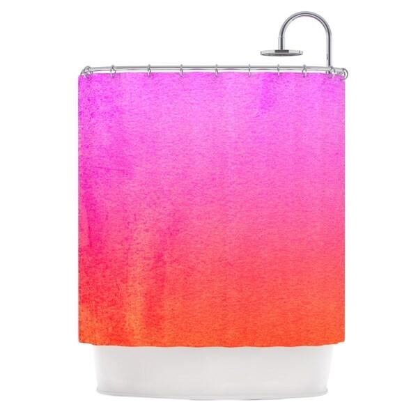 KESS InHouse Monika Strigel Fruit Punch Magenta Orange Shower Curtain (69x70)