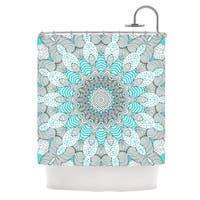 KESS InHouse Monika Strigel Dots and Stripes Mint Shower Curtain (69x70)