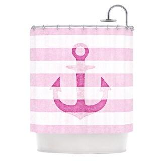 KESS InHouse Monika Strigel Stone Vintage Pink Anchor Shower Curtain (69x70)