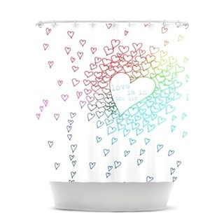 KESS InHouse Monika Strigel Rainbow Hearts Shower Curtain (69x70)
