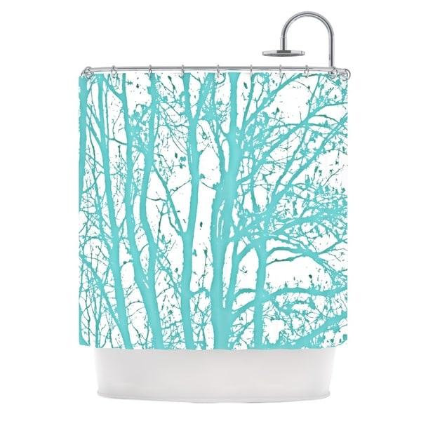 KESS InHouse Monika Strigel Mint Trees Shower Curtain (69x70)
