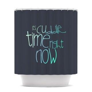 KESS InHouse Monika Strigel Cuddle Time Mint Shower Curtain (69x70)
