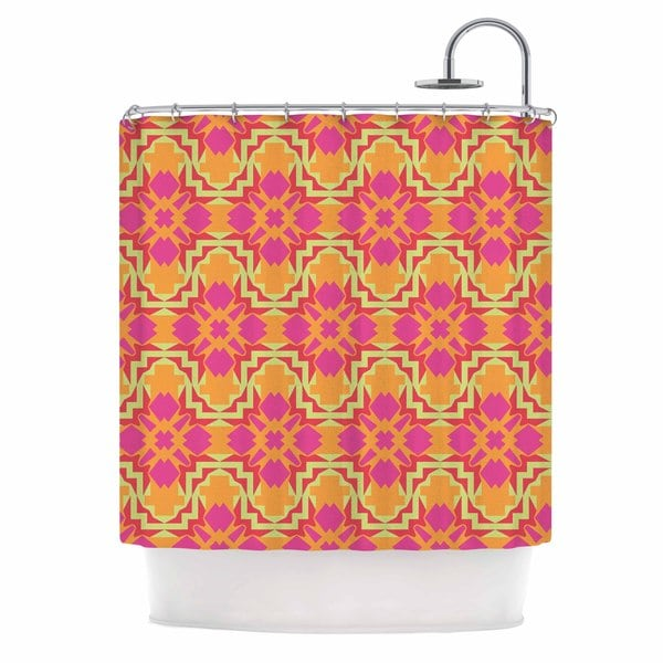 KESS InHouse Miranda Mol Jazzy Orange Pink Shower Curtain (69x70)