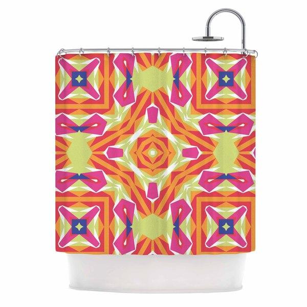 KESS InHouse Miranda Mol Summer Vibes Pink Blue Shower Curtain (69x70)